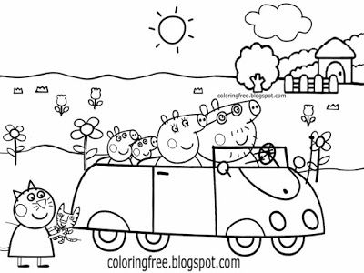 400x300 Peppa Pig Friends Coloring Page