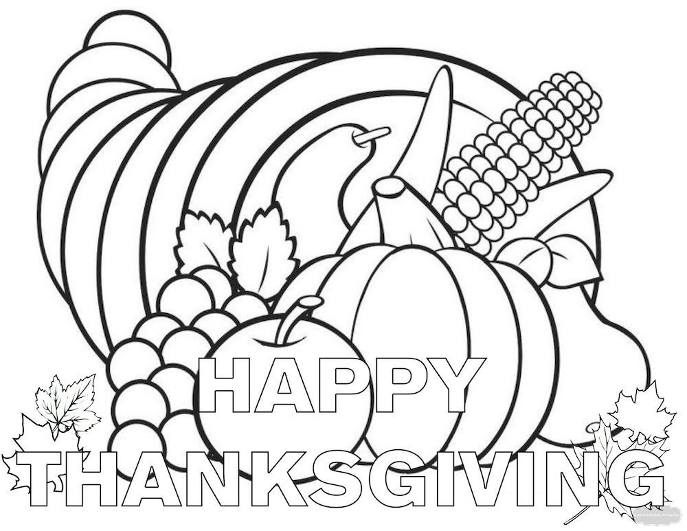 1000x773 Thanksgiving Coloring Pages