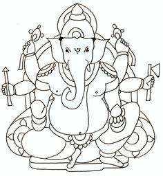 236x256 Ganesha Drawing Paper Craft Ganesha, Drawings