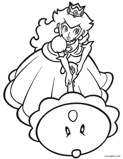 412x533 printable princess peach coloring pages for kids cool2bkids