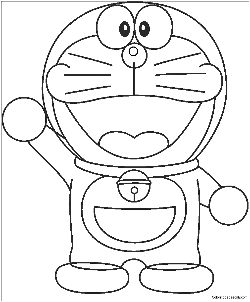 1005x1214 Doraemon Drawing For Kids Coloring Page