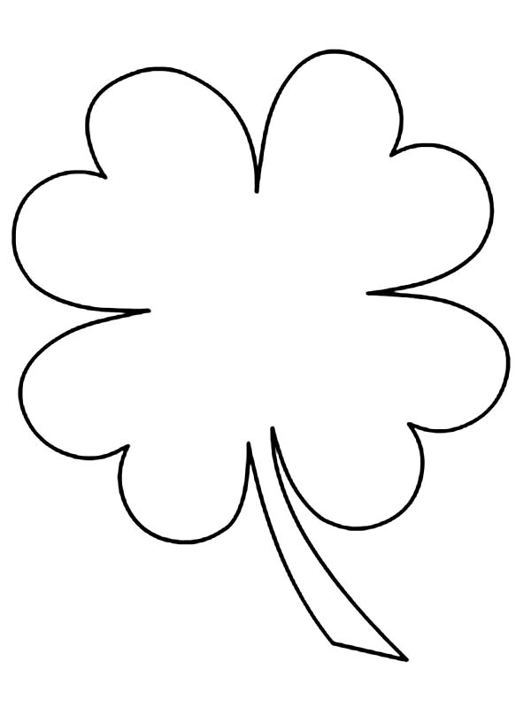600x808 Four Leaf Clover Printable Kids Drawing Of Four Leaf Clover
