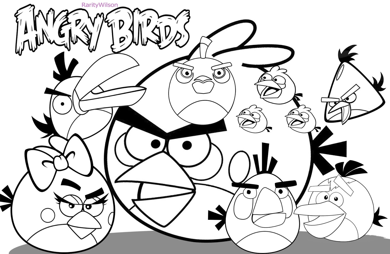 1600x1040 Images Of Angry Birds Epic Coloring Pages To For Kids Pigs High