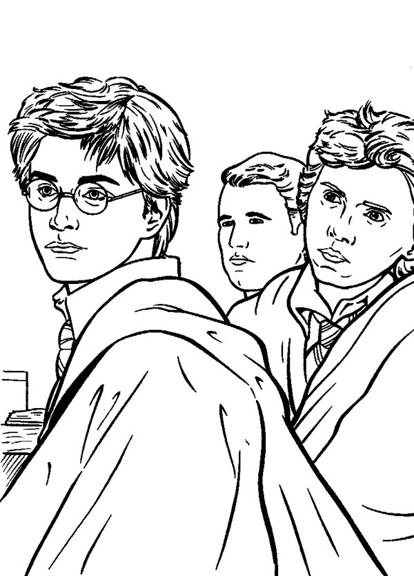 600x834 Kids Drawing Of Harry Potter Coloring Page