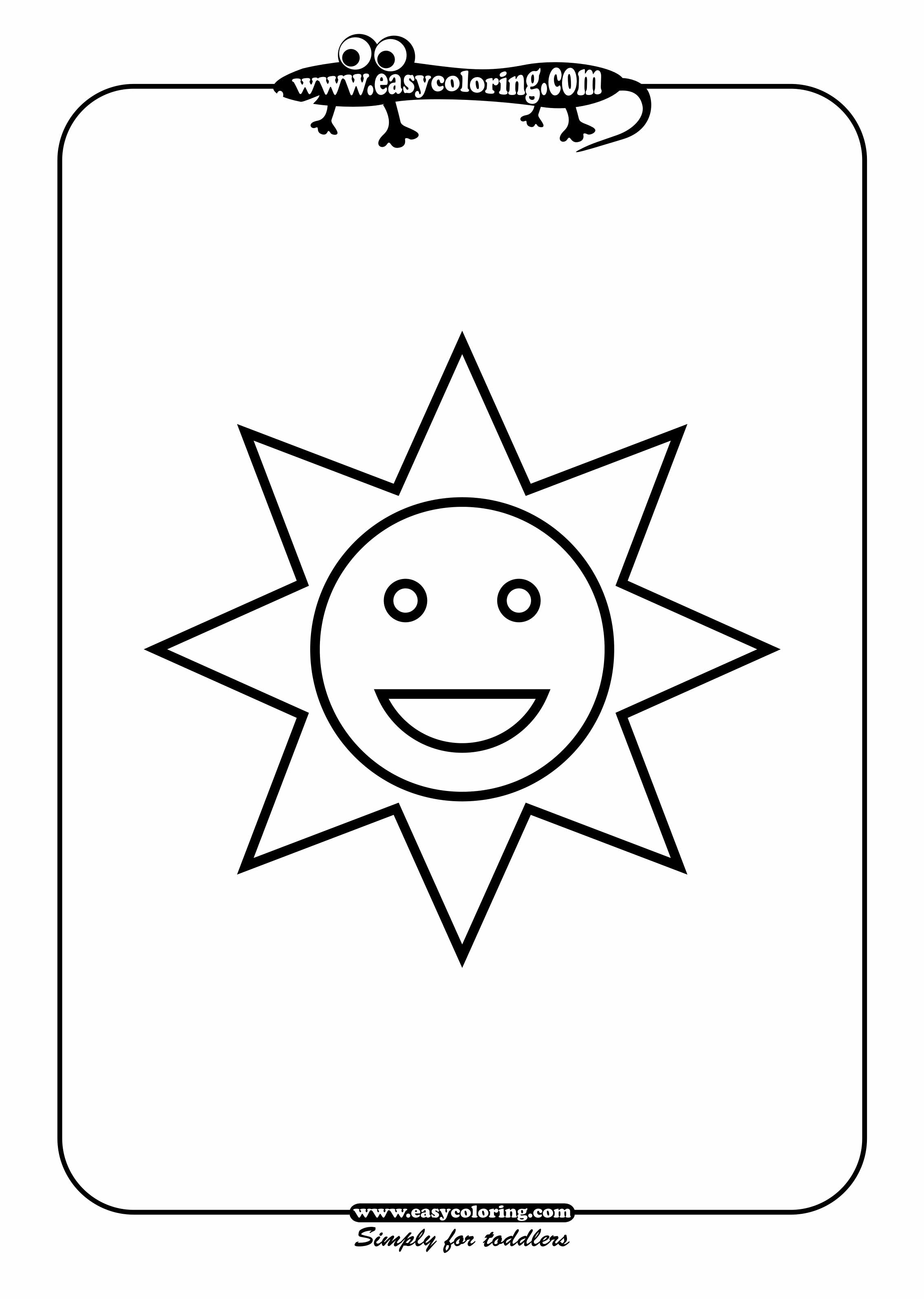 2267x3186 Simple Drawing For Kids Using Shapes Sun