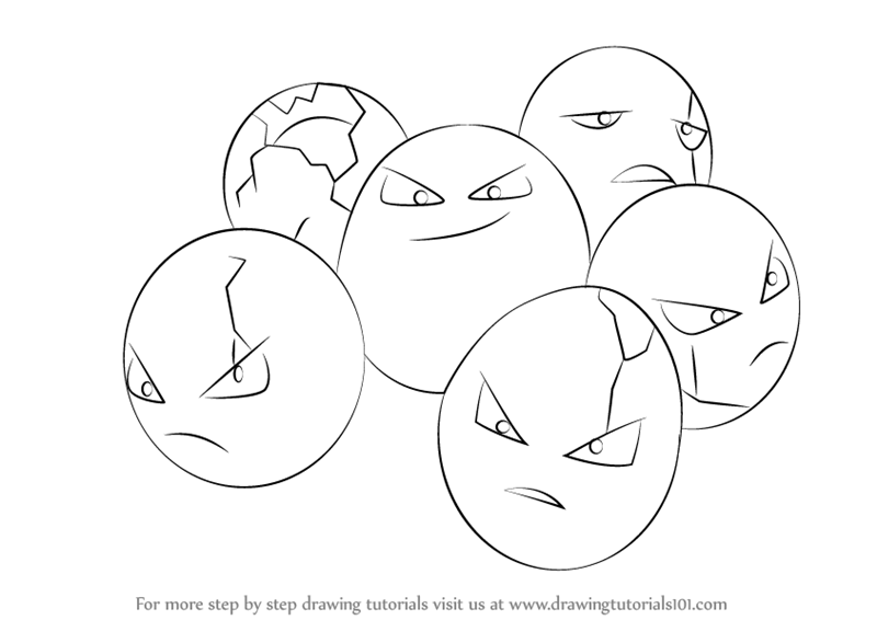 800x566 Learn How To Draw Exeggcute From Pokemon (Pokemon) Step By Step