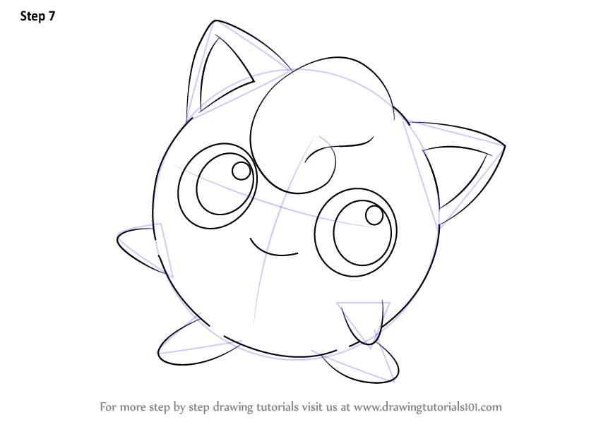 844x598 Learn How To Draw Jigglypuff From Pokemon (Pokemon) Step By Step