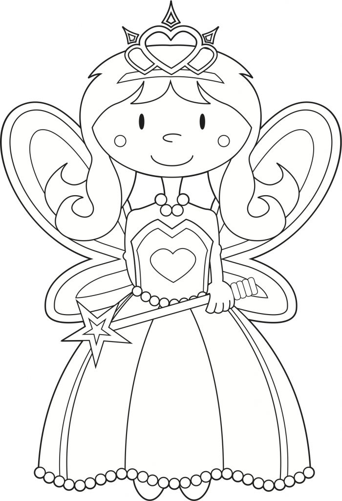 700x1024 Fairy Princess Coloring Page Fairy Princess Coloring Picture