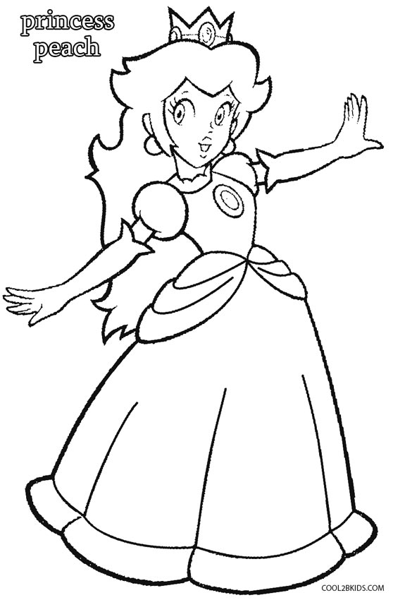 558x850 Printable Princess Peach Coloring Pages For Kids Cool2bKids