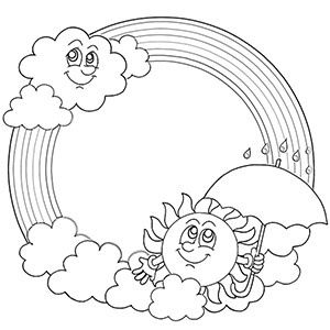 300x300 Free Printable Rainbow Coloring Pages For Kids Rainbows, Free