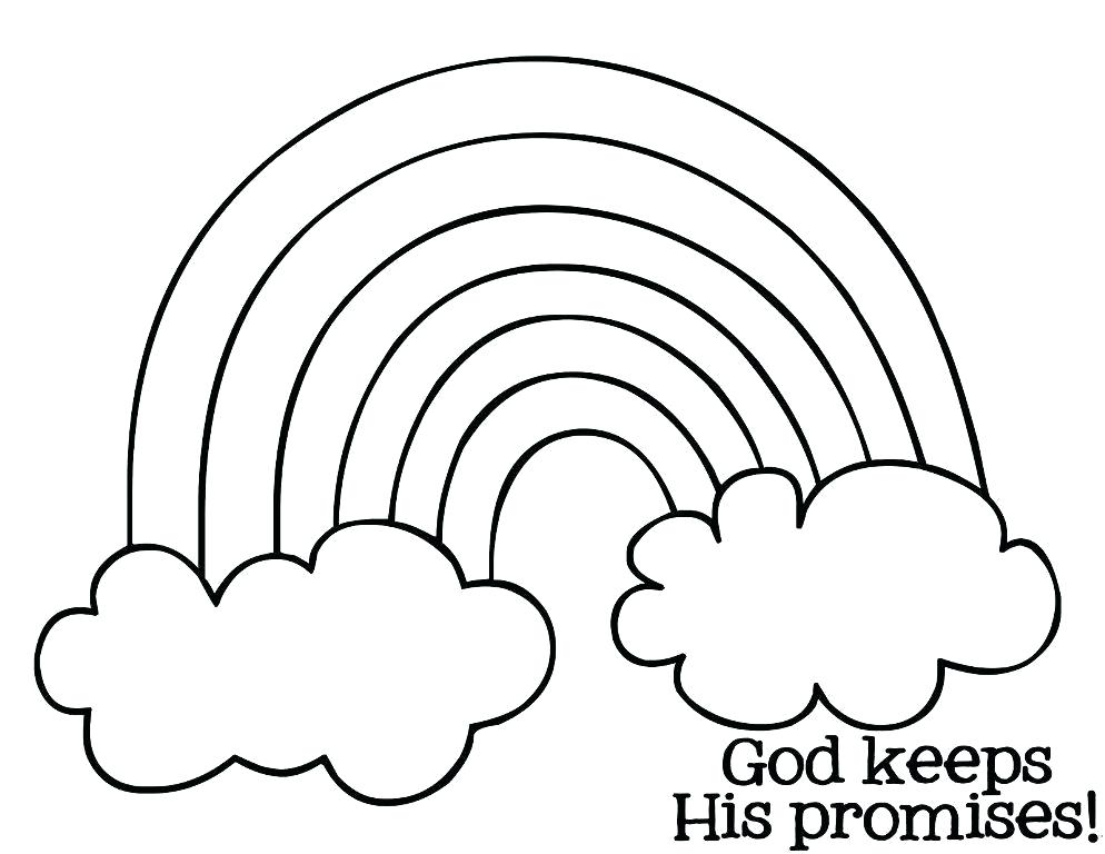 994x768 Rainbow Coloring Page For Preschool Rainbow Rainbow Coloring Page