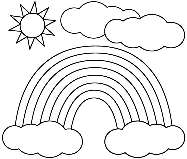 736x629 Amazing Rainbow Coloring Page 79 On Download Coloring Pages