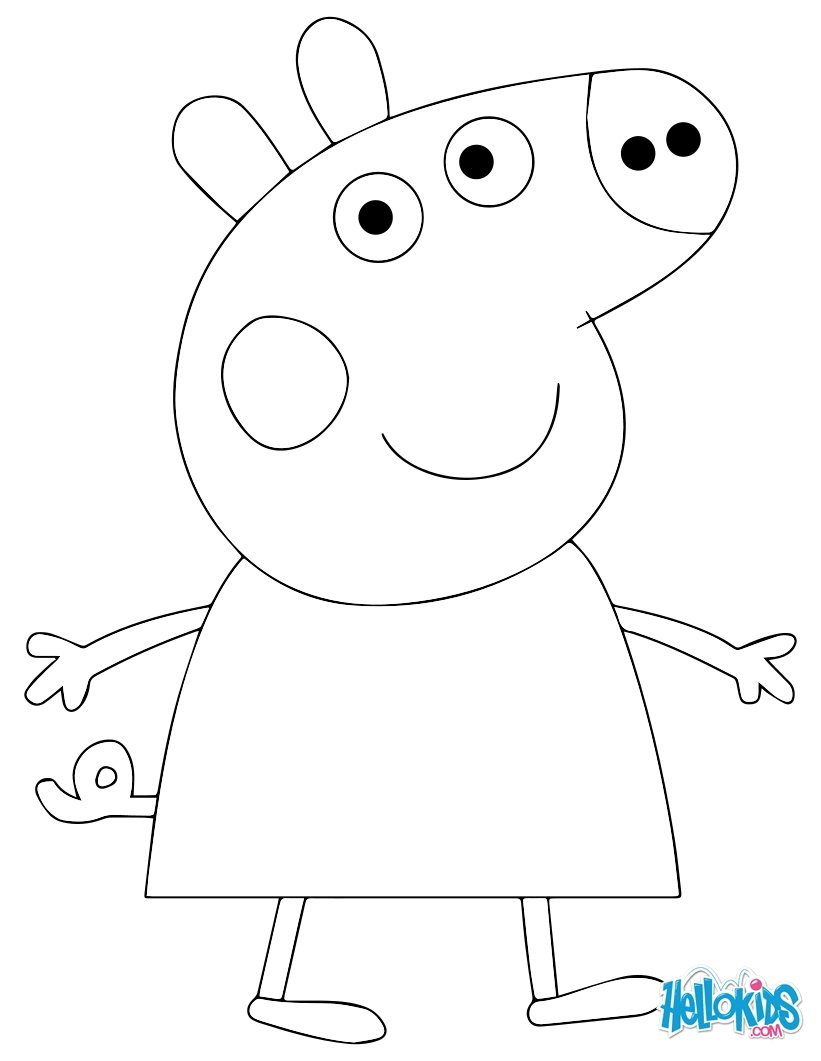 821x1061 Peppa Pig Drawing Templates Peppa Pig Template Kids Coloring
