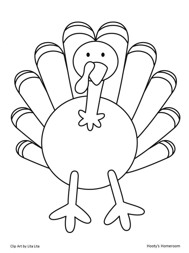 768x1024 Adult Turkey Template For Kids Printable Turkey Template For Kids
