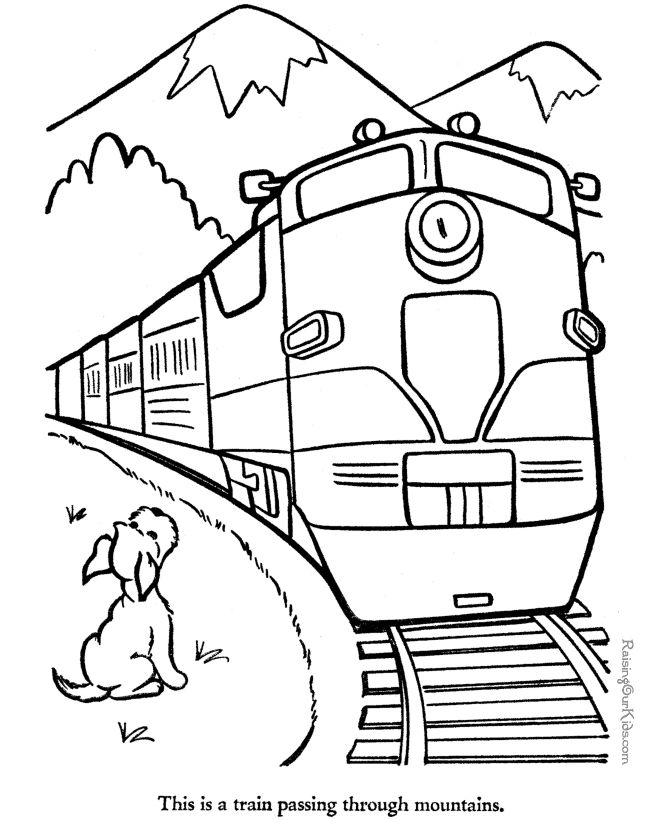 Kids Drawing Train