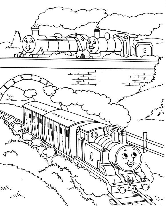580x728 Coloring Page Thomas The Train Thomas The Train On Kids N Fun.co