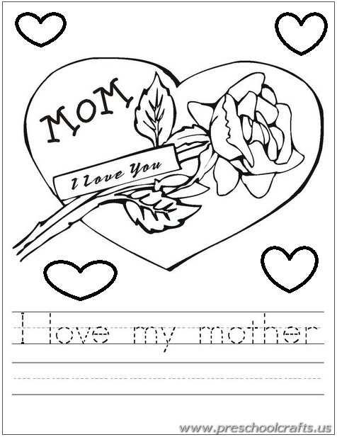 476x617 Mothers Day Tracing Worksheets For Kids
