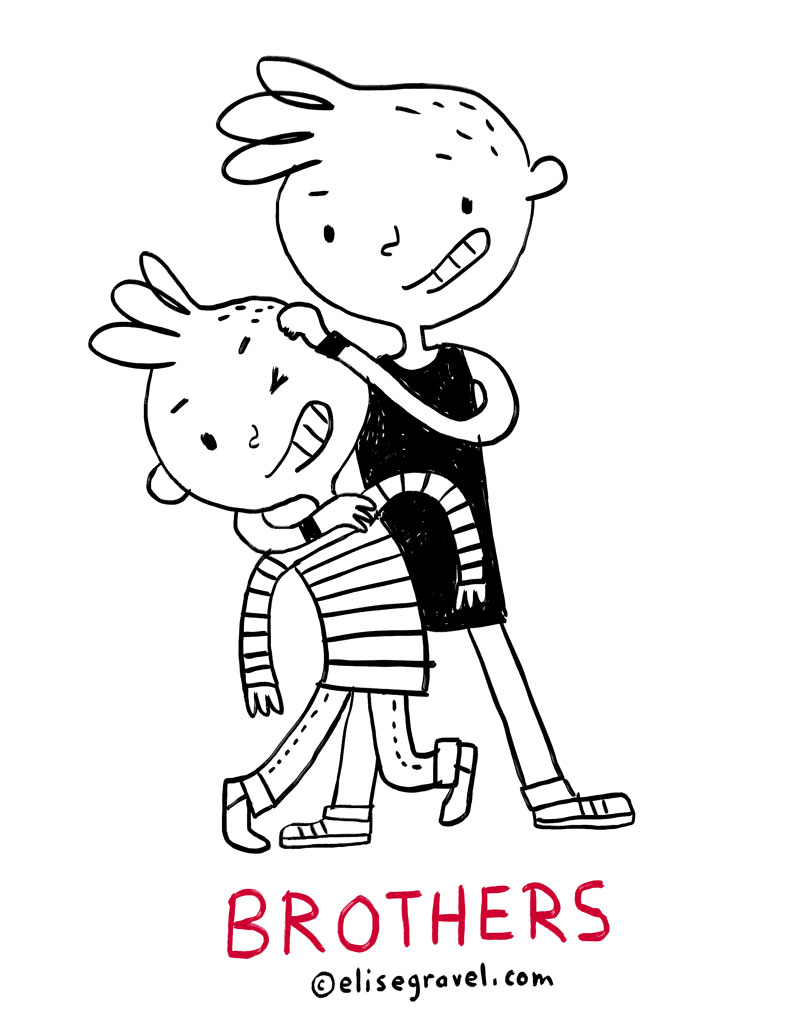 800x1035 Elise Gravel Illustration Brothers Boys Kids Love Family
