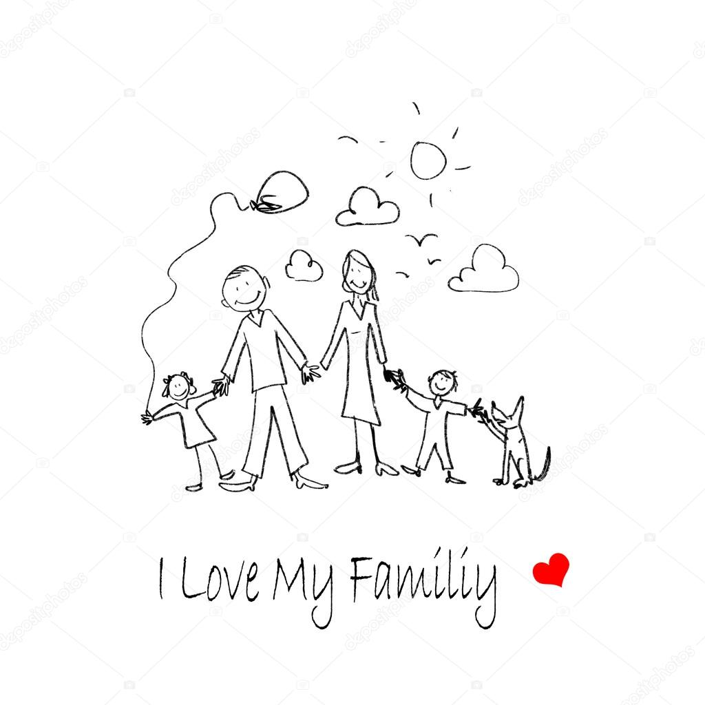 1024x1024 I Love My Family Stock Photo Sergeynivens