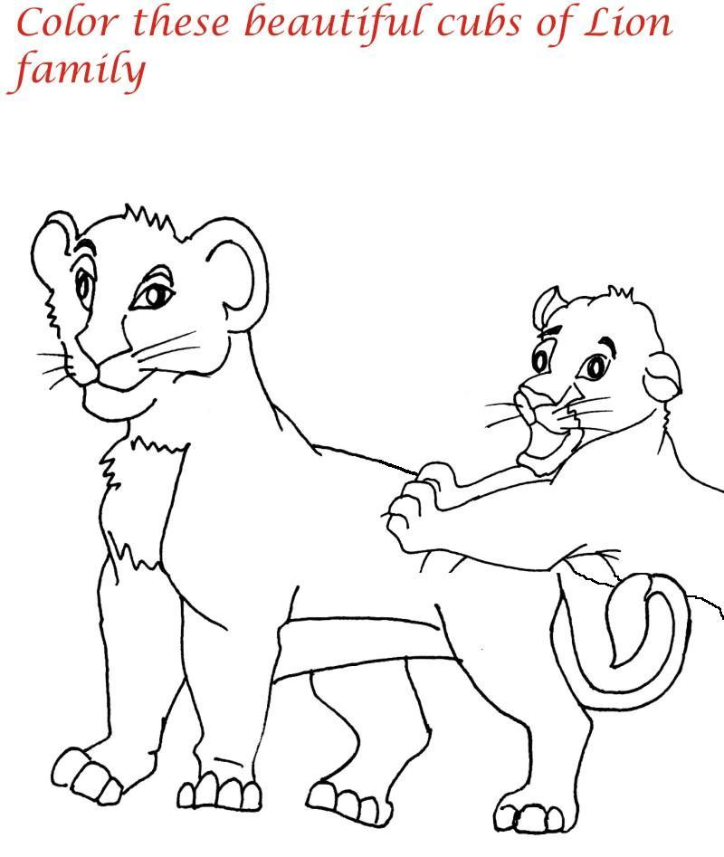800x947 Lion Family Printable Coloring Page For Kids 7