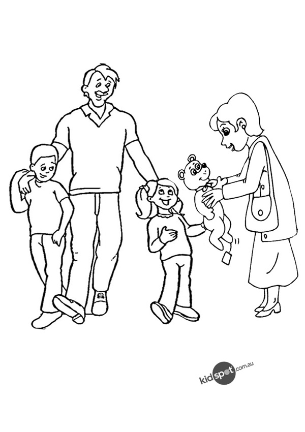 600x850 My Family Drawing Page