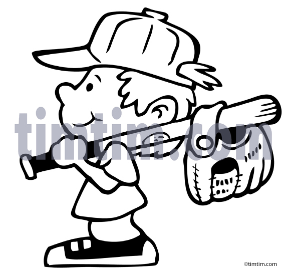 573x541 Free Drawing Of A Baseball Boy Bw From The Category Sports