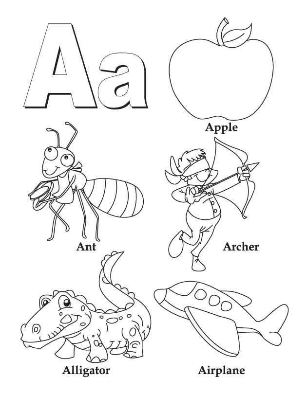 630x810 a z coloring pages for funny draw printable coloring pages for