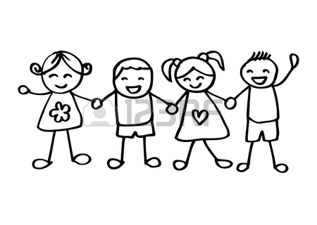 450x320 Little Kids Holding Hands Royalty Free Cliparts, Vectors,