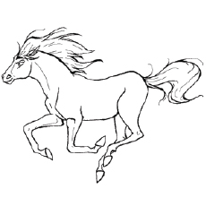 230x230 Anime Horse Coloring Pages