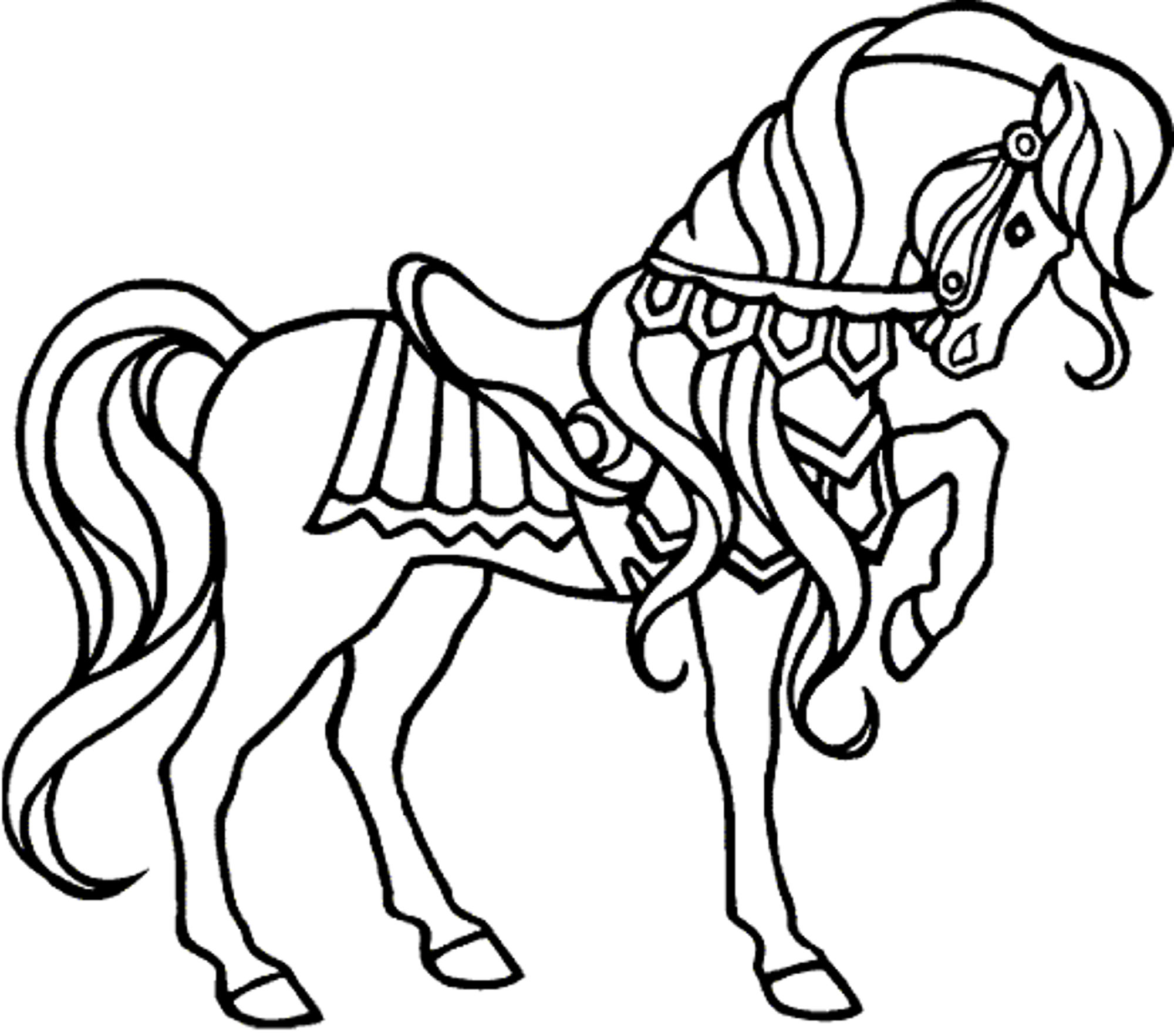 Kids Horse Drawing at GetDrawings.com | Free for personal use Kids ...