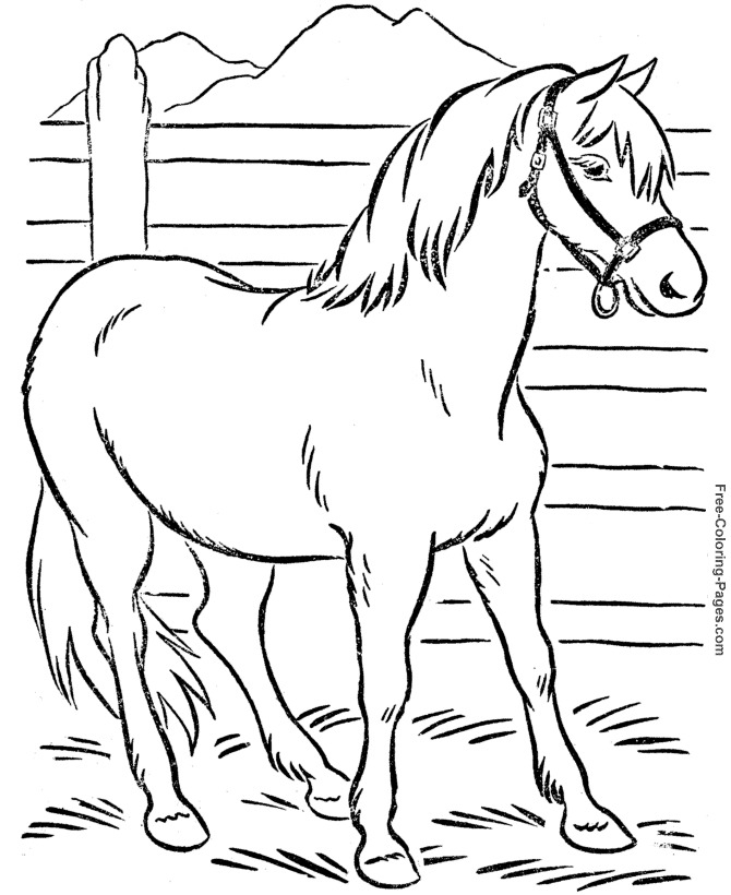 670x820 Printable Coloring Pages For Kids Horses World Of Printable