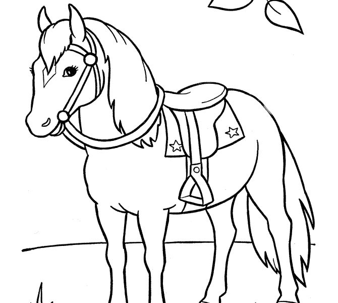 670x600 Download Horse Drawing For Kids