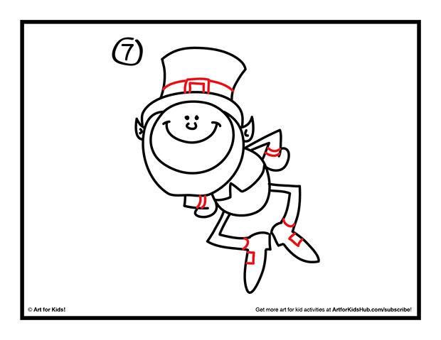 620x479 How To Draw A Leprechaun