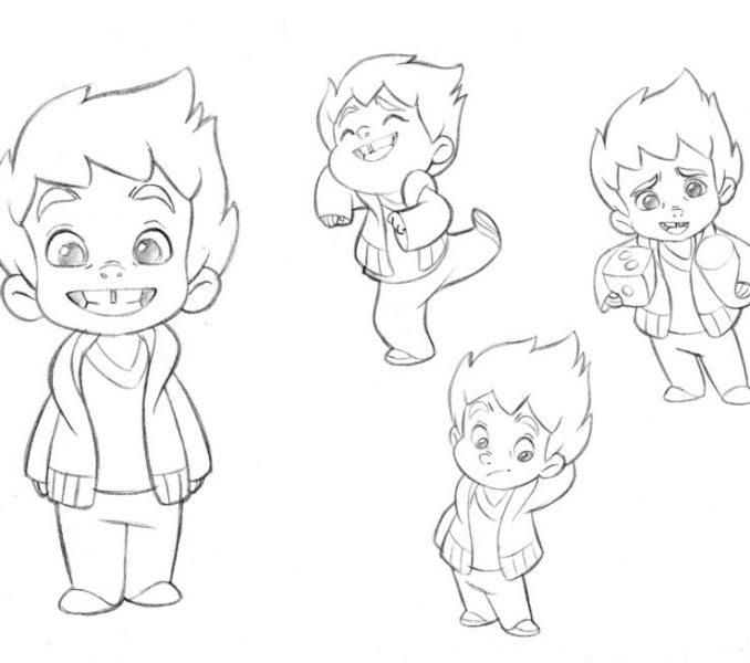 Kids Line Drawing