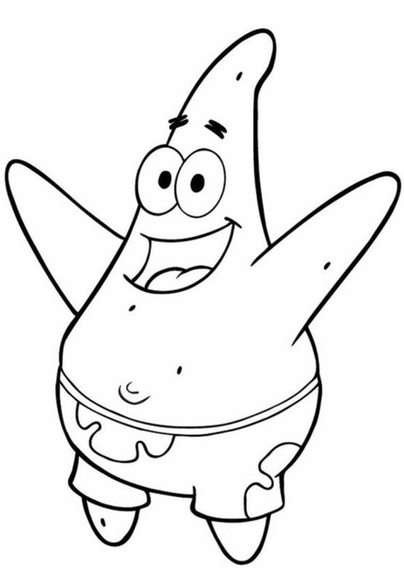 580x818 Patrick Coloring Pages Mesmerizing Patrick Star Coloring Pages 68