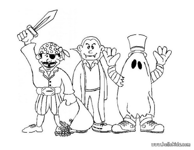 620x480 Halloween Monsters Coloring Pages