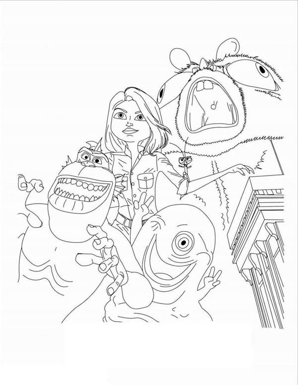 600x776 Kids Drawing Of Monster Vs Aliens Coloring Page Color Luna