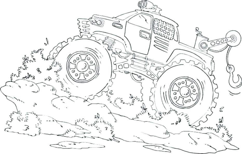 932x593 Awesome Excellent Coloring Pages Of Monster Trucks New Truck