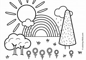300x210 Nature Drawing Kids Scenery Coloring Pages With Nature