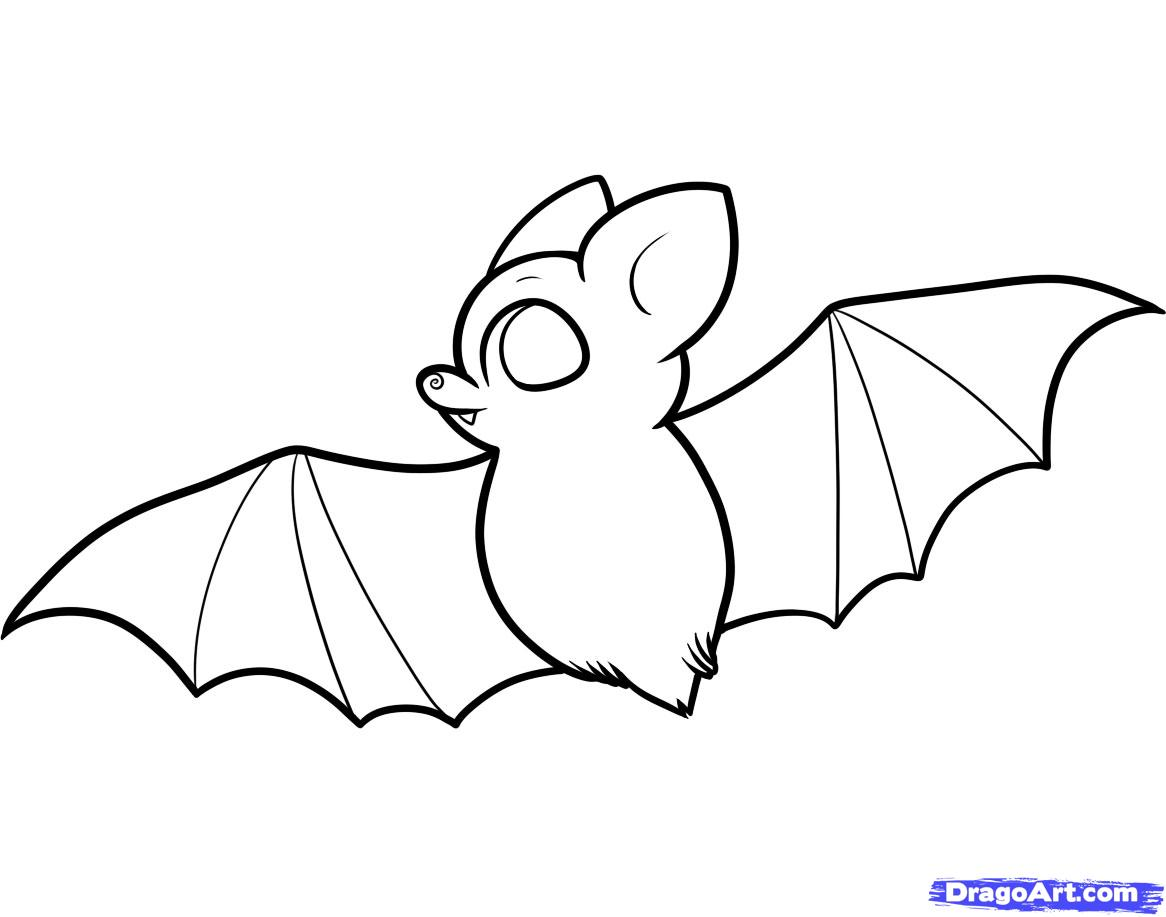 1166x917 How To Draw A Bat For Kids Doodles Bats, Drawings