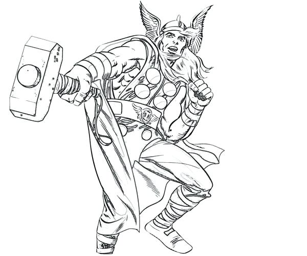 600x500 Thor Coloring Pages Online Best Images On For Kids Drawing