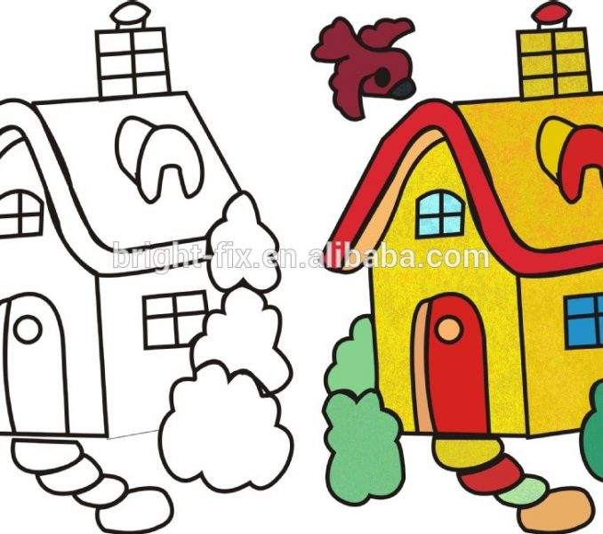 678x600 Painting Picture For Kids Coloring Pages