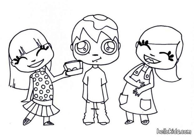 620x440 Kids Playing With Eggs Coloring Pages
