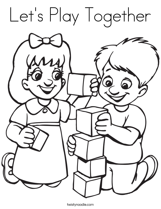685x886 let39s play together coloring page