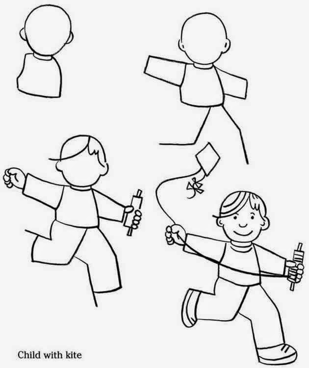 630x750 Photos How To Draw Children Playing,