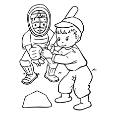 230x230 Top 20 Baseball Coloring Pages For Toddlers