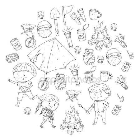 450x450 Children Summer Camping Kindergarten, School Vacation With Kids