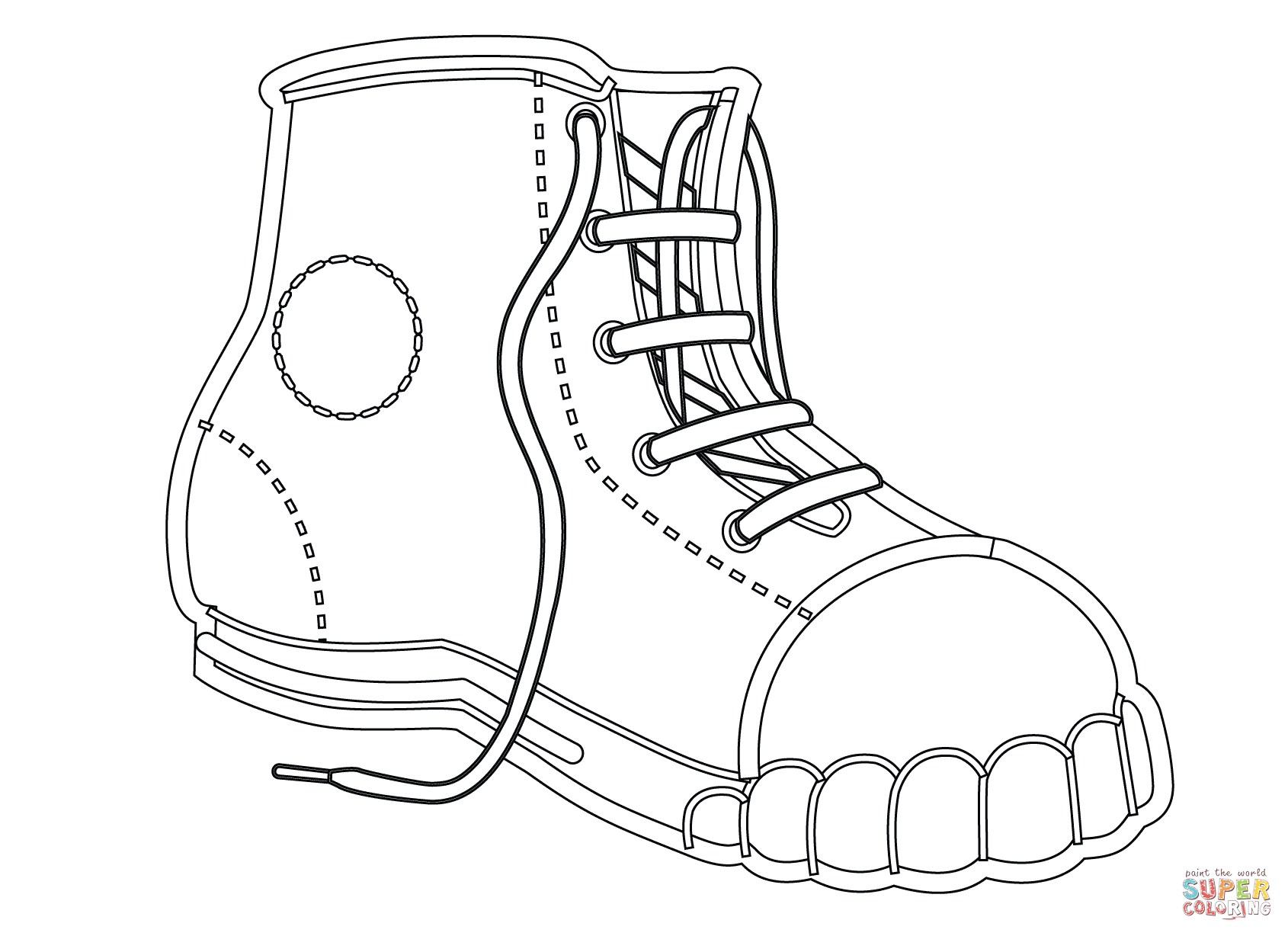 childrens coloring pages shoes - photo#6