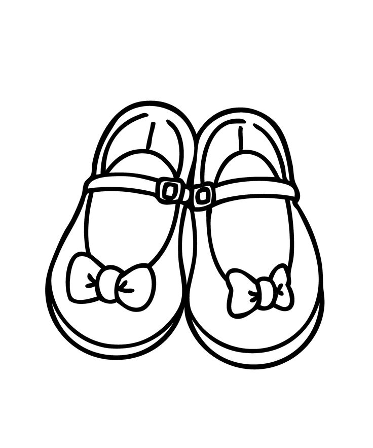 736x883 Girls Shoes Clipart Black And White