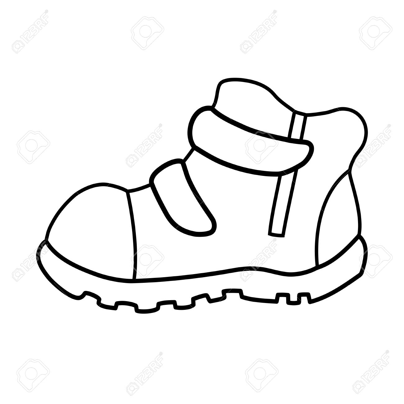 1300x1300 Hand Drawn Pair Of Kids Shoes. It Can Be Used For Decorating